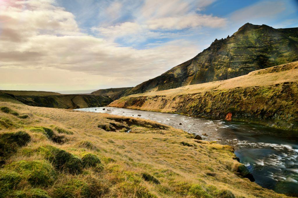 Iceland road trip - skogafoss landscape