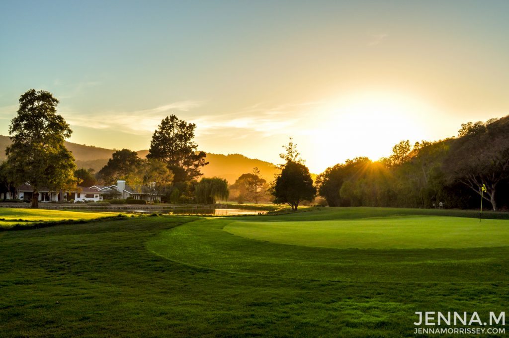 Quail Lodge Golf Course Sunset