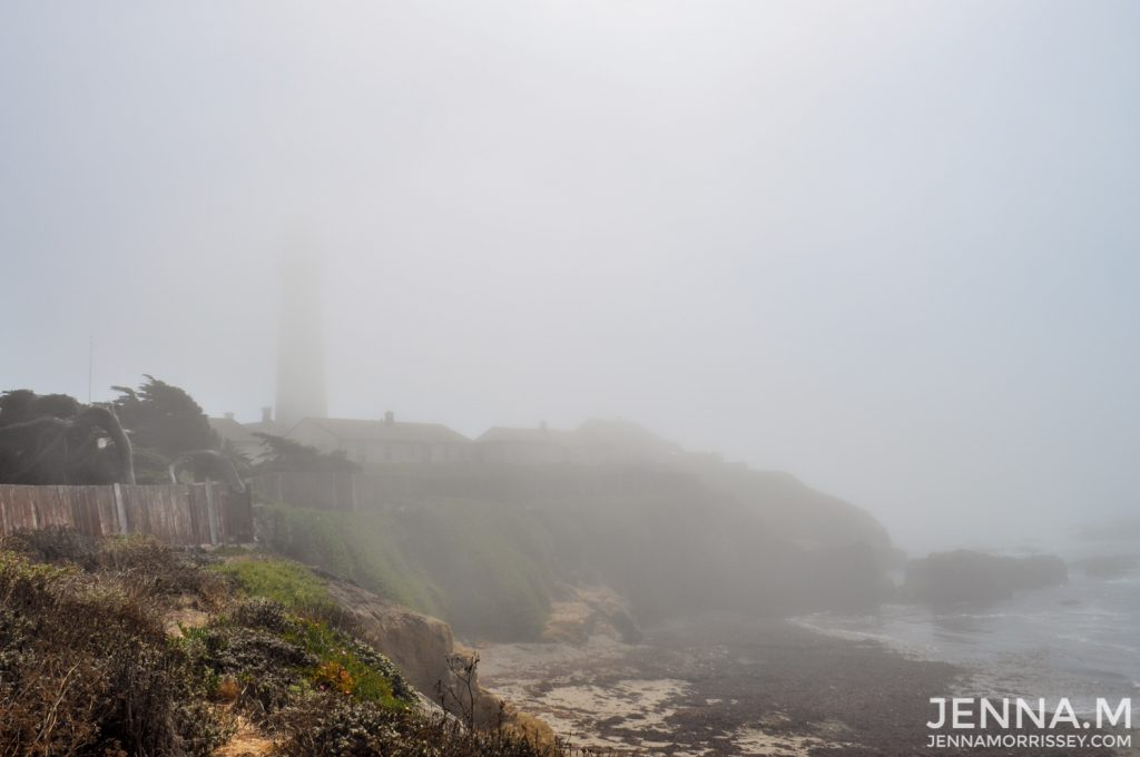 Pigeon Point Lighthouse in Fog Cailifornia