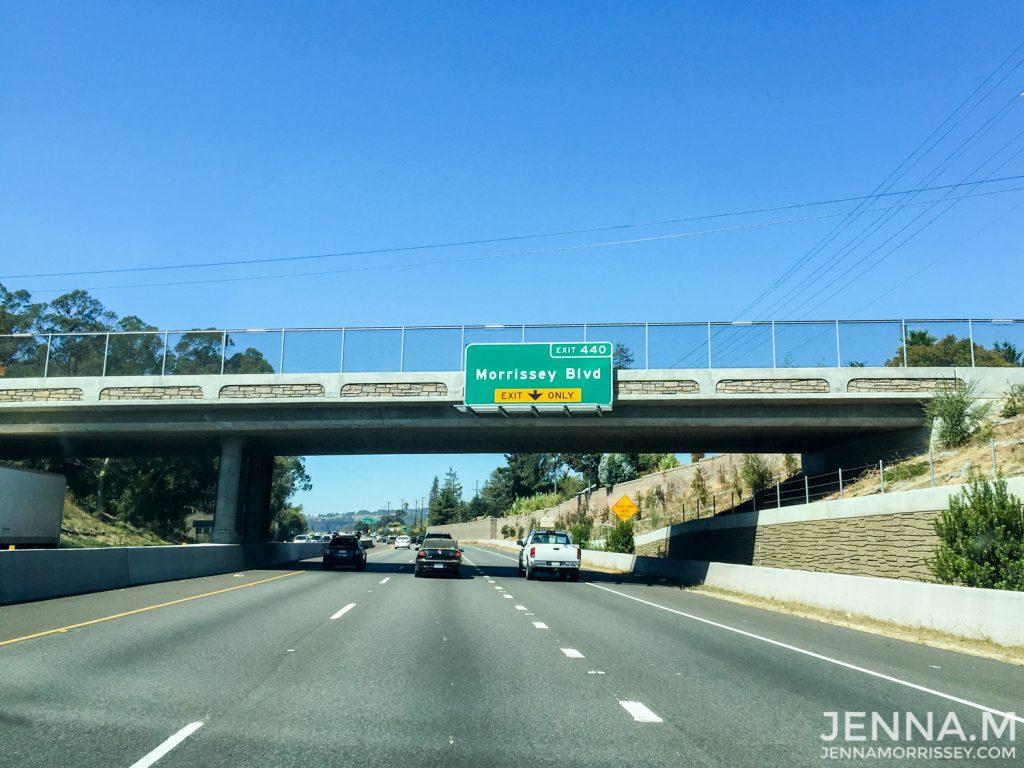Morrissey Road Sign San Francisco