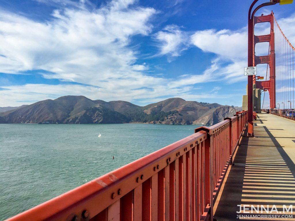 Views from Golden Gate Bridge San Francisco