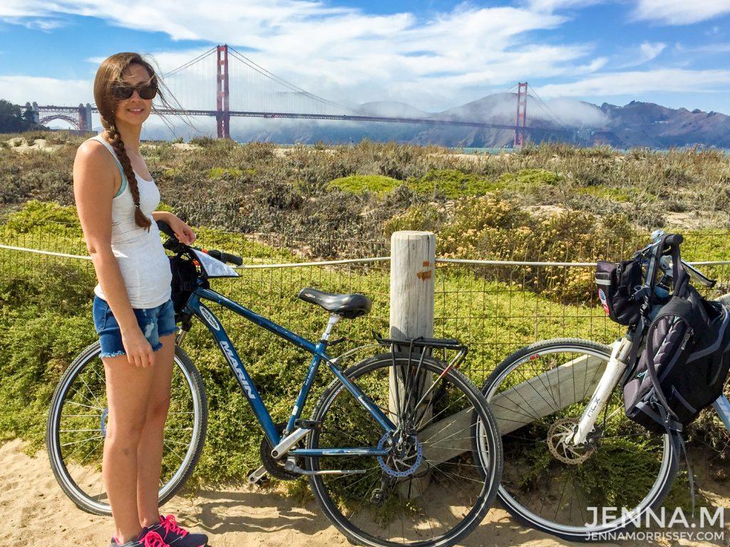 Bike Riding the Golden Gate Bridge