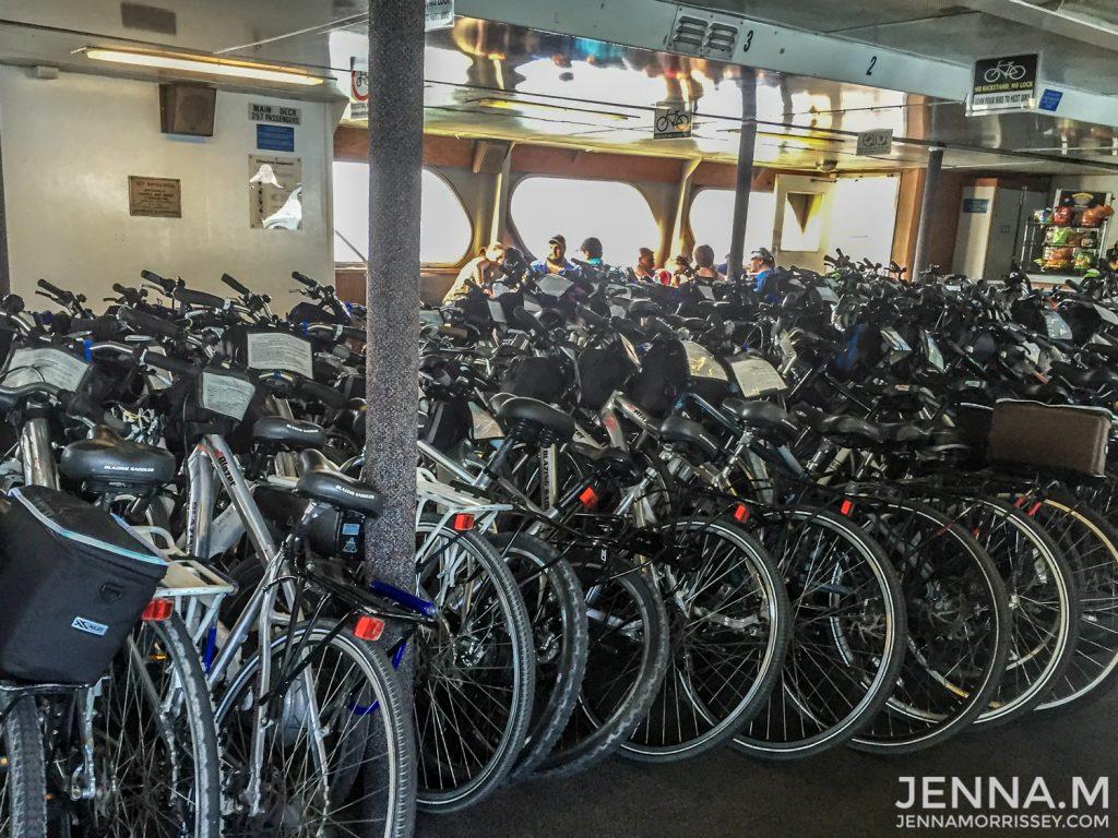 Bikes on the Sausalito Ferry to San Francisco