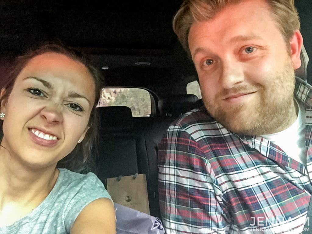 Driving to Yosemite Selfie