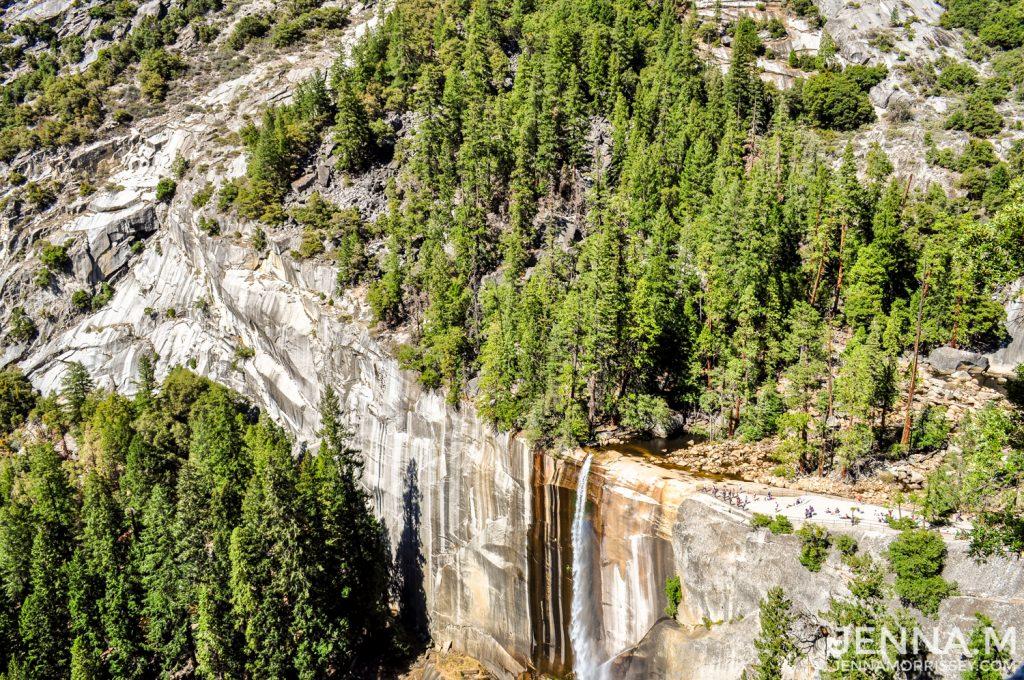 Vernal Falls from above Yosemite
